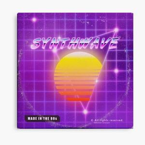 Synthwave music vinyl disk album