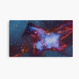Fantasy nebula cosmos sky in space with stars (Blue)