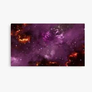 Fantasy nebula cosmos sky in space with stars (Purple/Yellow/Orange/Red/Magenta)