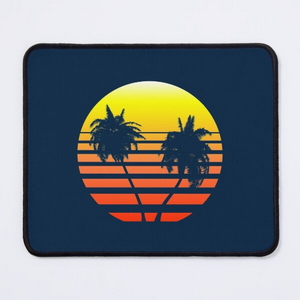 Synthwave Sunset (with palm trees)
