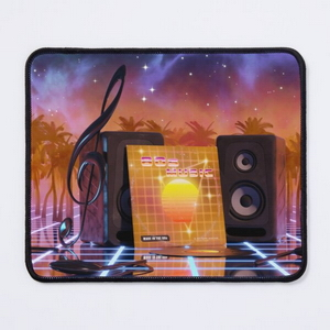 80s music in music land with palm trees