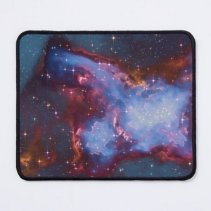 Fantasy nebula cosmos sky in space with stars (Blue) - Mouse pads
