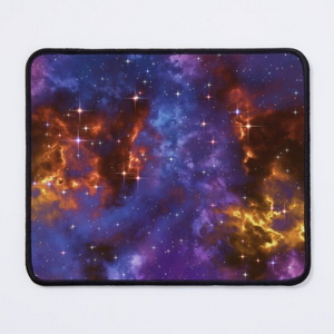 Fantasy nebula cosmos sky in space with stars (Blue/Purple/Red/Yellow) - Mouse pads