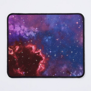 Fantasy nebula cosmos sky in space with stars (Blue/Purple/Red/Yellow/Pink)