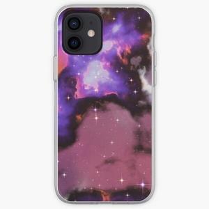Fantasy nebula cosmos sky in space with stars (Purple/Blue/Magenta)