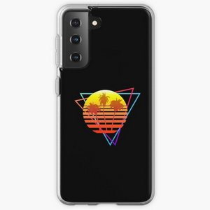 Synthwave Sun (with palm trees and triangles)