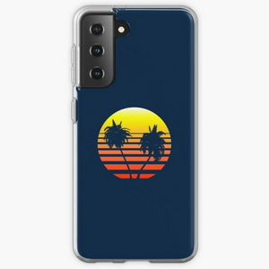 Synthwave Sunset (with palm trees) - Samsung phone cases