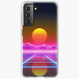 Synthwave landscape - Samsung phone cases