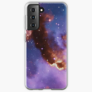 Fantasy nebula cosmos sky in space with stars (Red/Blue/Purple) - Samsung phone cases