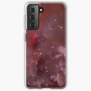 Fantasy nebula cosmos sky in space with stars (Purple/Pink/Magenta) - Samsung phone cases