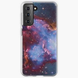 Fantasy nebula cosmos sky in space with stars (Blue) - Samsung phone cases
