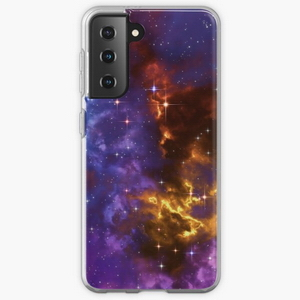 Fantasy nebula cosmos sky in space with stars (Blue/Purple/Red/Yellow)