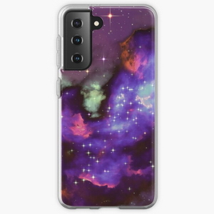 Fantasy nebula cosmos sky in space with stars (Purple/Cyan/Blue/Pink/Magenta)