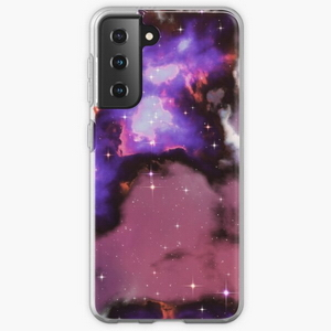 Fantasy nebula cosmos sky in space with stars (Purple/Blue/Magenta) - Samsung phone cases