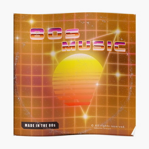 80s music vinyl disk album - Posters