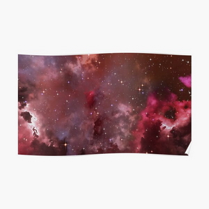 Fantasy nebula cosmos sky in space with stars (Purple/Pink/Magenta)