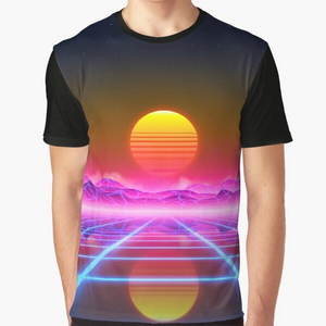 Synthwave landscape