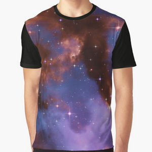 Fantasy nebula cosmos sky in space with stars (Red/Blue/Purple)