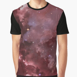 Fantasy nebula cosmos sky in space with stars (Purple/Pink/Magenta) - T-shirts