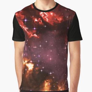 Fantasy nebula cosmos sky in space with stars (Purple/Yellow/Orange/Red/Magenta) - T-shirts