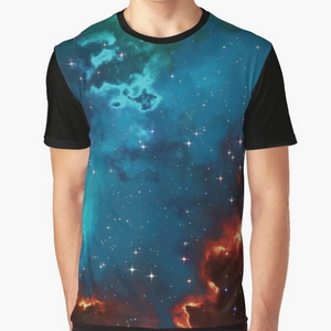 Fantasy nebula cosmos sky in space with stars (Blue/Cyan/Green/Yellow/Orange/Red)