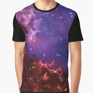 Fantasy nebula cosmos sky in space with stars (Blue/Purple/Red/Yellow/Pink) - T-shirts