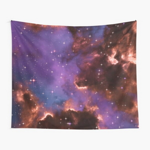 Fantasy nebula cosmos sky in space with stars (Red/Purple/Blue)