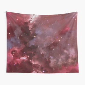Fantasy nebula cosmos sky in space with stars (Purple/Pink/Magenta) - Tapestry
