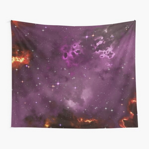 Fantasy nebula cosmos sky in space with stars (Purple/Yellow/Orange/Red/Magenta) - Tapestry